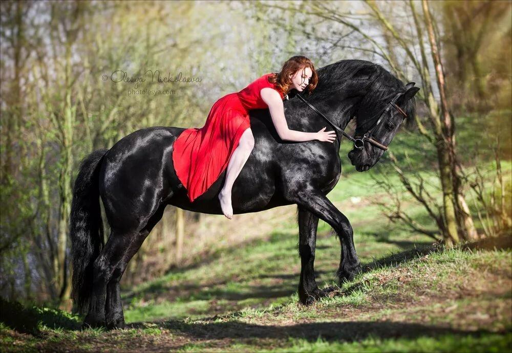 фото людей с конями сей раз