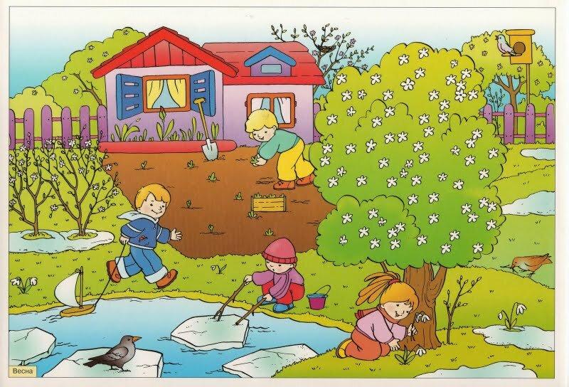 Для, детские весенние картинки