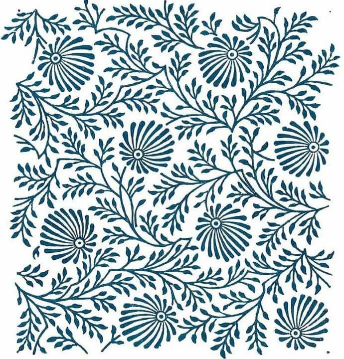 рисунки с растительным узором такими