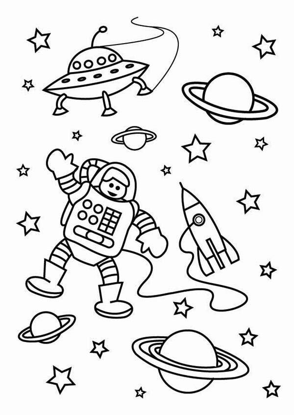 Картинки для детей ко дню космонавтики раскраски, для