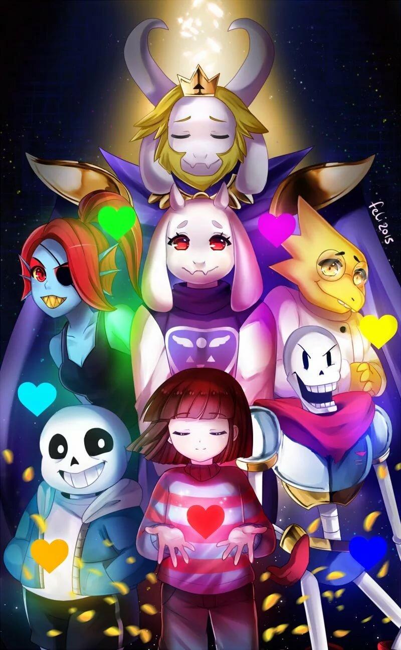 Фото всех персонажей из андертейл
