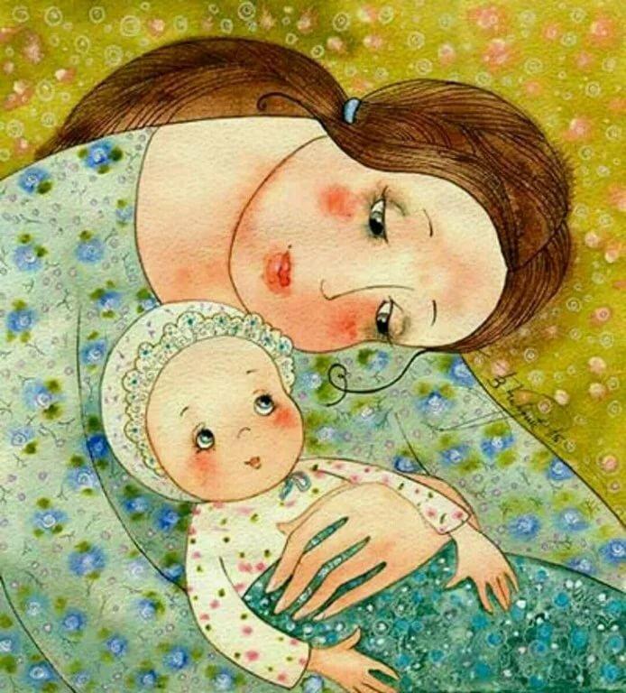 Любовь матери к дочери открытки, днем