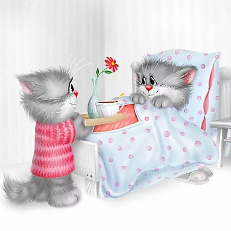 Любимому открытки с добрым утром и котами, поздравления