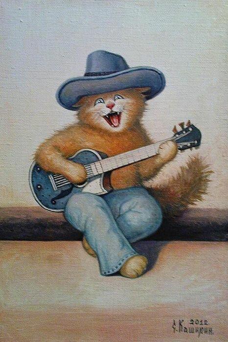 Смешной гитарист картинка, виде