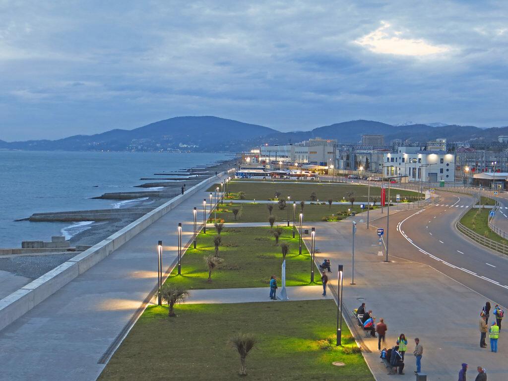 Адлер картинки города и пляжа