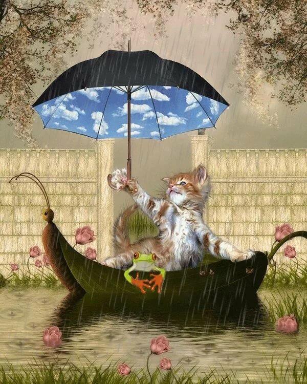 Доброе дождливое утро прикольные картинки, утро рассвет прикольная