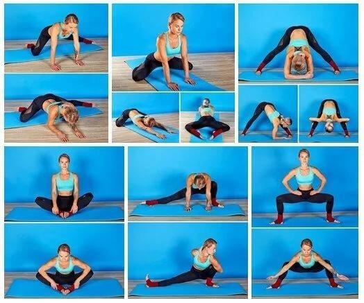 Упражнение с картинками для поперечного шпагата