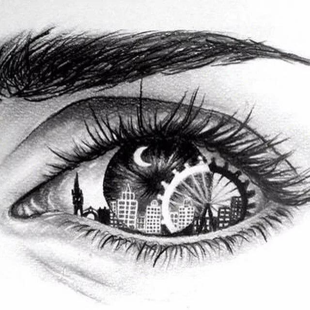 Черно белые рисунки рисовать карандашом
