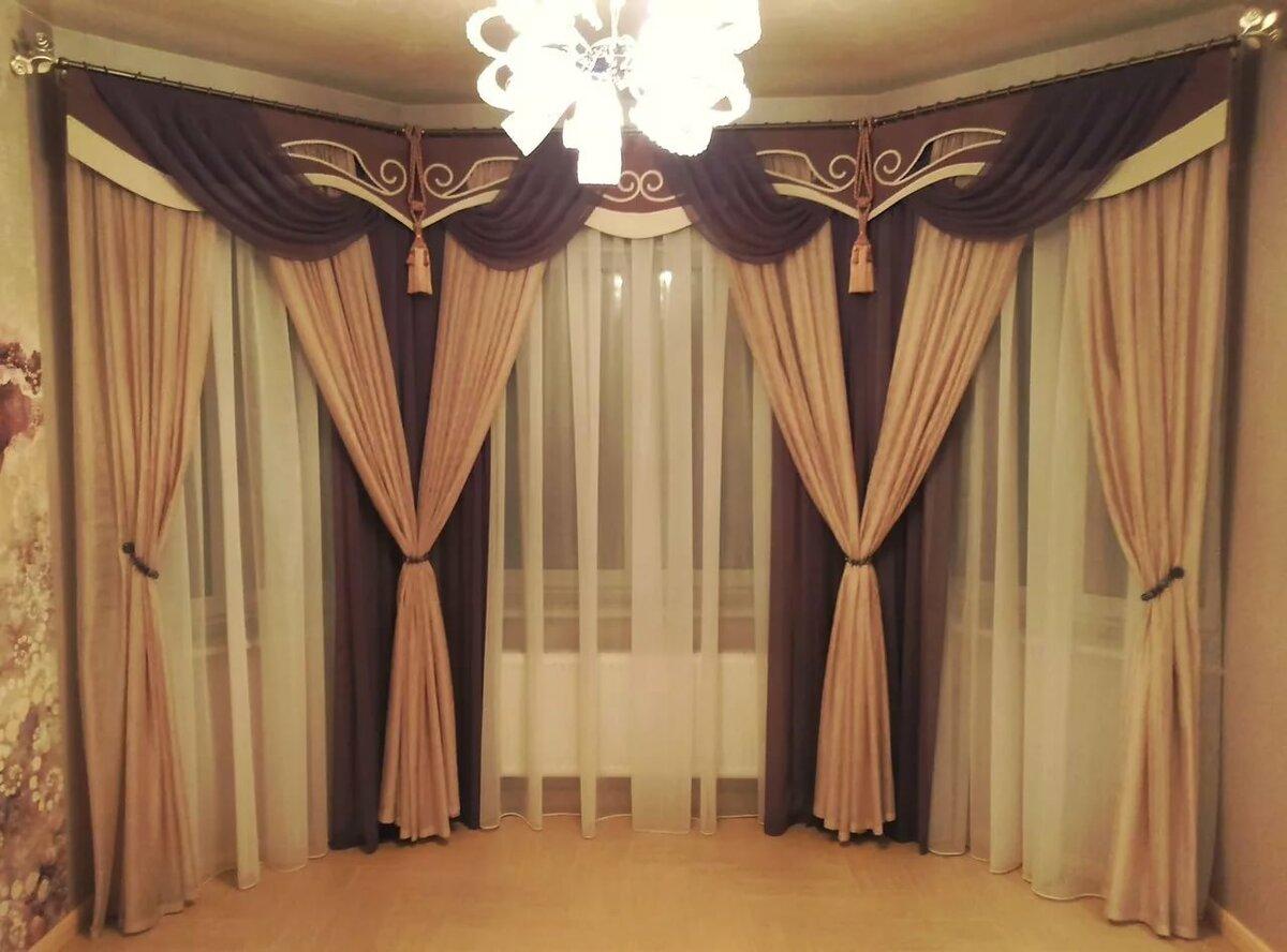 Картинки шторы для зала без ламбрекена