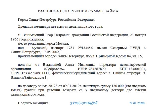 взять частный займ под расписку без предоплаты vzyat-zaym.su
