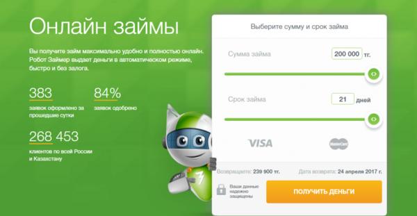Лучшие сайты для займа денег онлайн