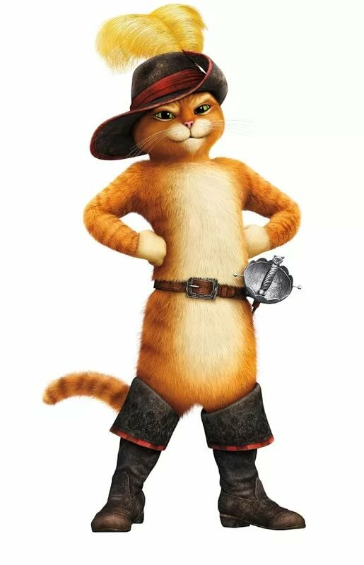 Кот в сапогах персонажи в картинках