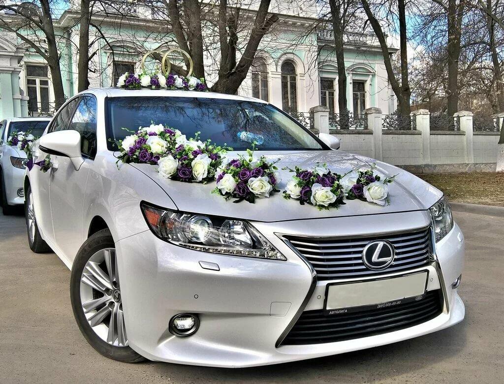 украшение машины на свадьбу фото новом
