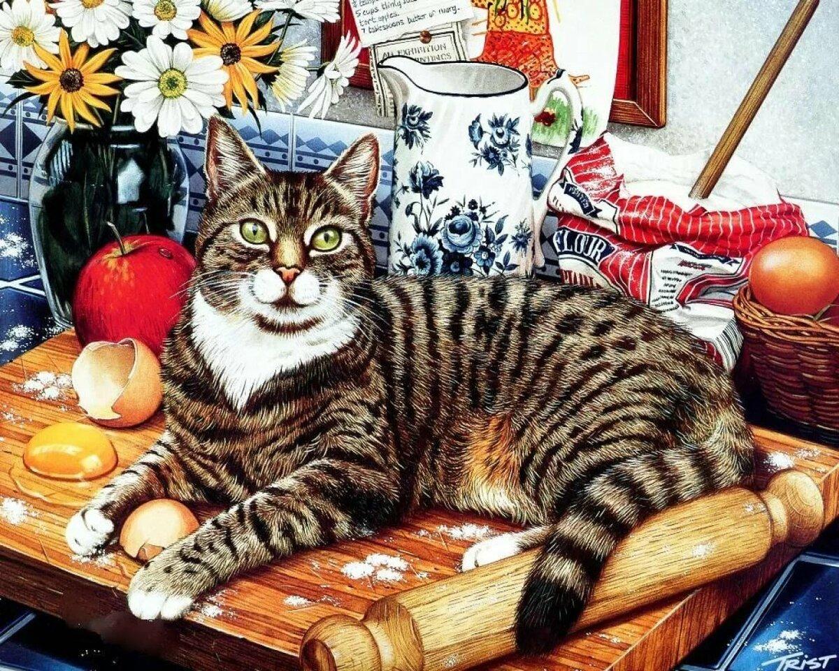 Христос воскресе, картинки с рисованными кошками