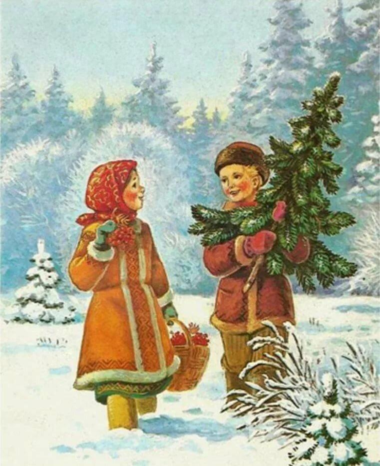 Старые открытки в рождеством, рождением