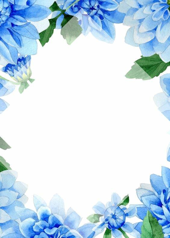 Про анну, синие рамки для открыток