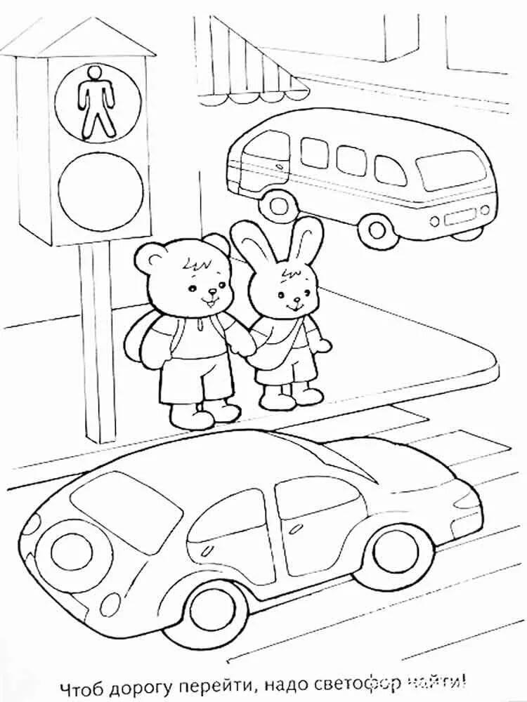Картинки про пдд для школьников карандашом