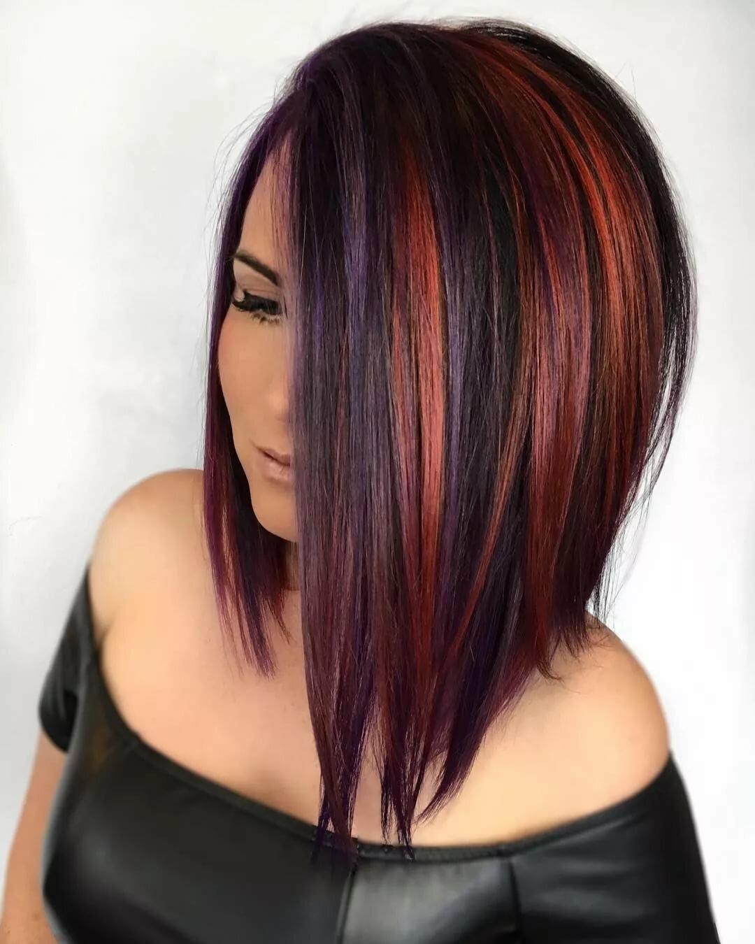 фото с покраской волос в два цвета нашем каталоге