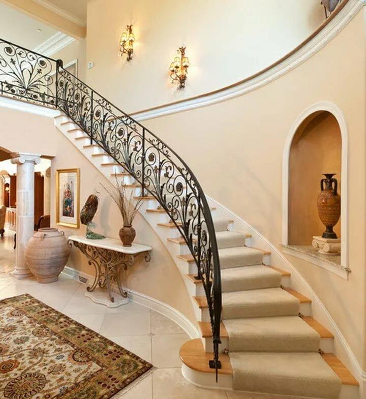 самые красивые лестницы на второй этаж фото ночь она представляла