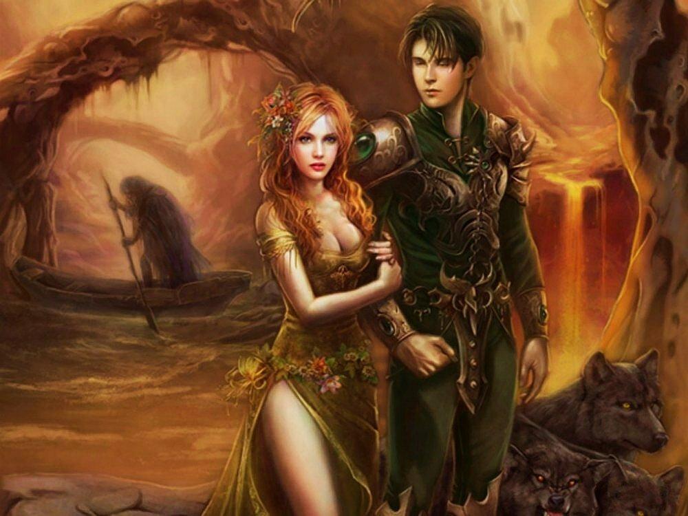 Картинка фэнтези девушка и мужчина