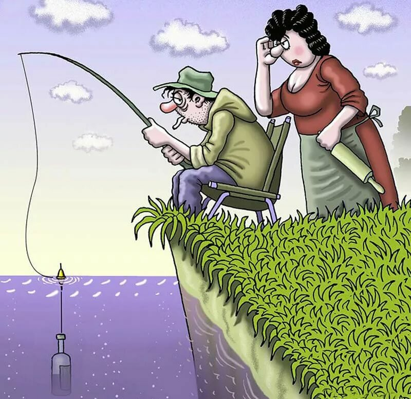Картинки смешного рыбака, про сыновей