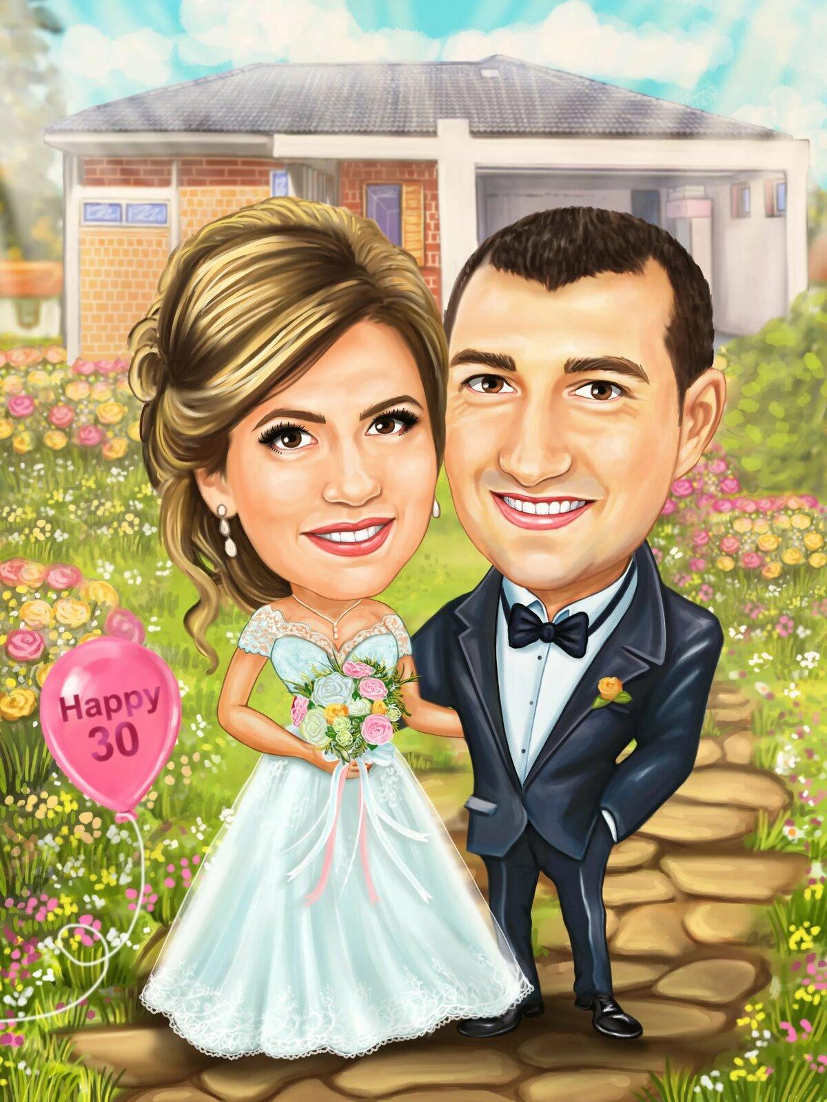 Свадебные шарж картинки