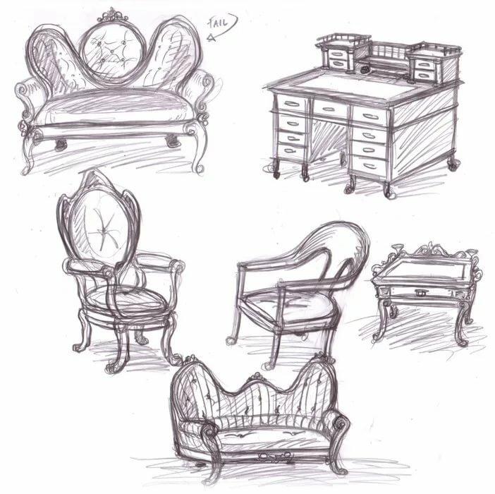 Картинки рисунков мебели