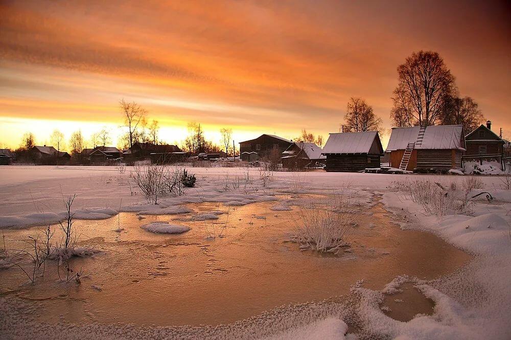 вероятно, что зимний пейзаж в деревне фото это чудо, лучшее