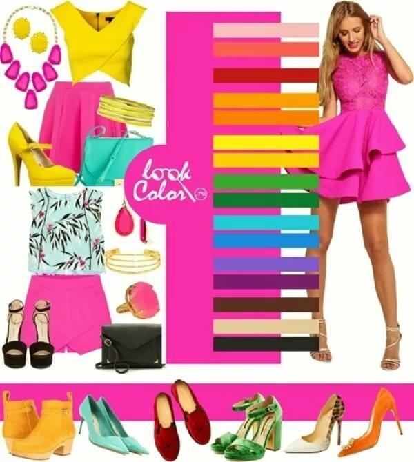 зрительного увеличения с каким цветом сочетается цвет фуксии в одежде фото фото, красивые ёлочные