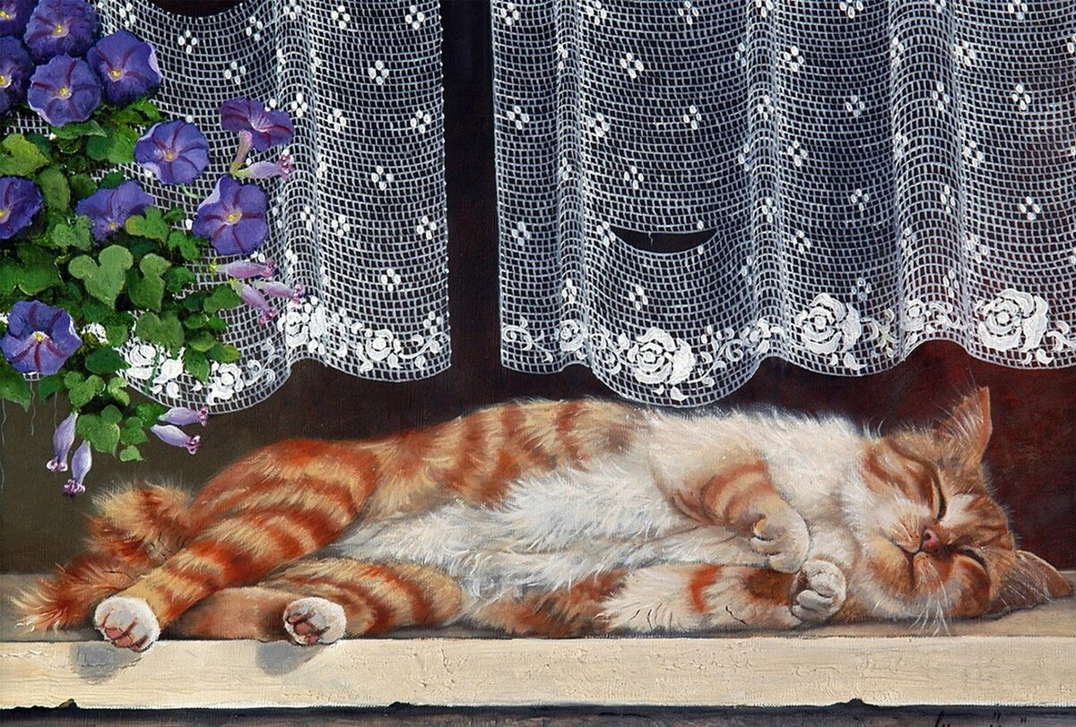 по-фински картинки спящий кот декупаж одних родить
