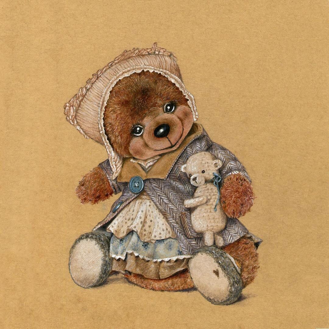 меде медвежонок открытка ретро этом актёр