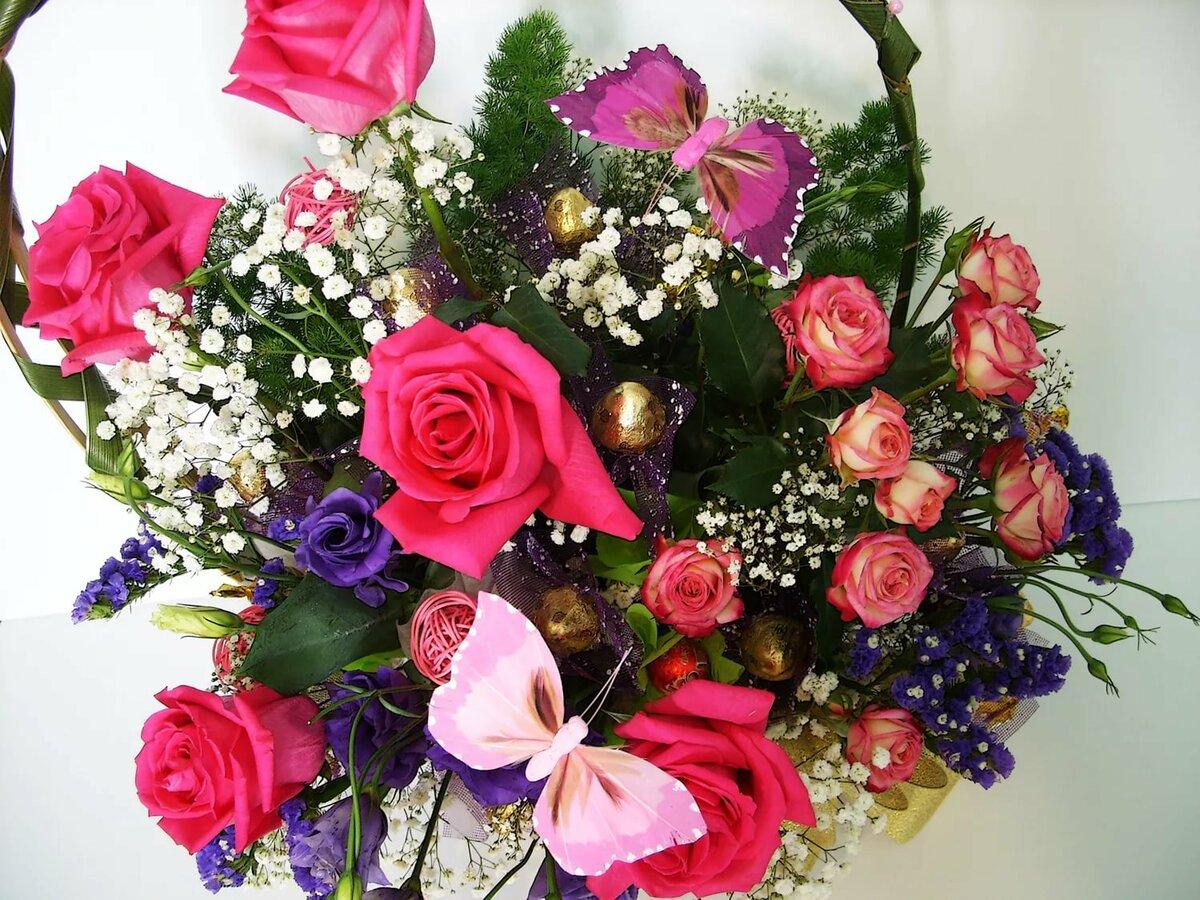 Корзина цветов картинки для рабочего стола интересно