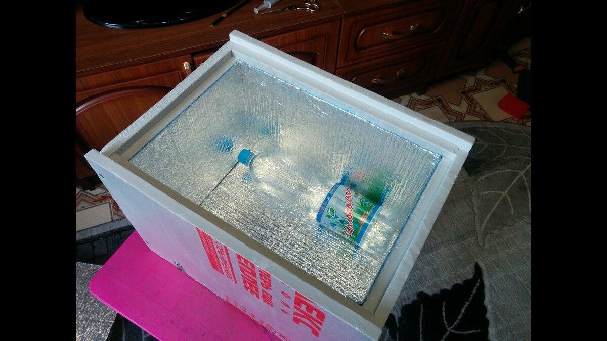 Холодильник своими руками из пенопласта фото