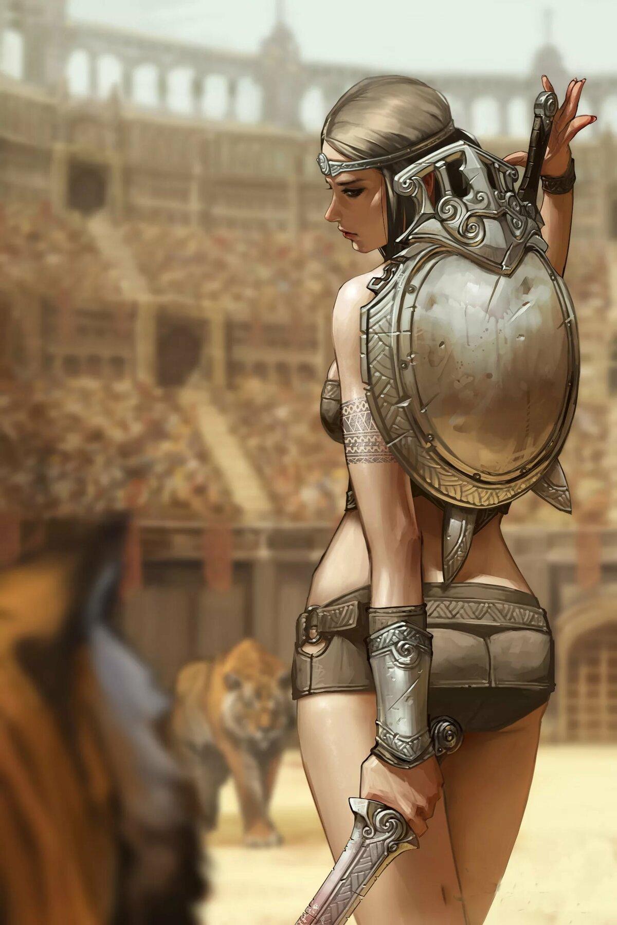 Женщина гладиатор картинка