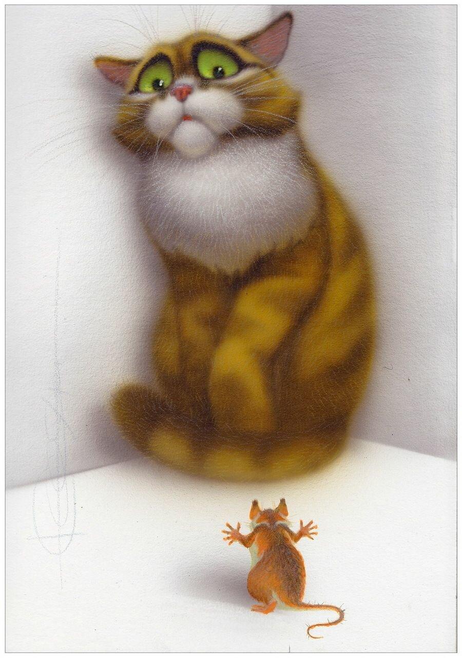 Иваном, смешные мультяшные котики и мышки