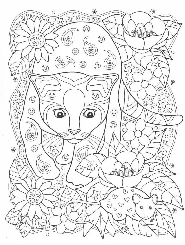 «#Раскраска кошка Анжела » — карточка от пользователя Вика ...