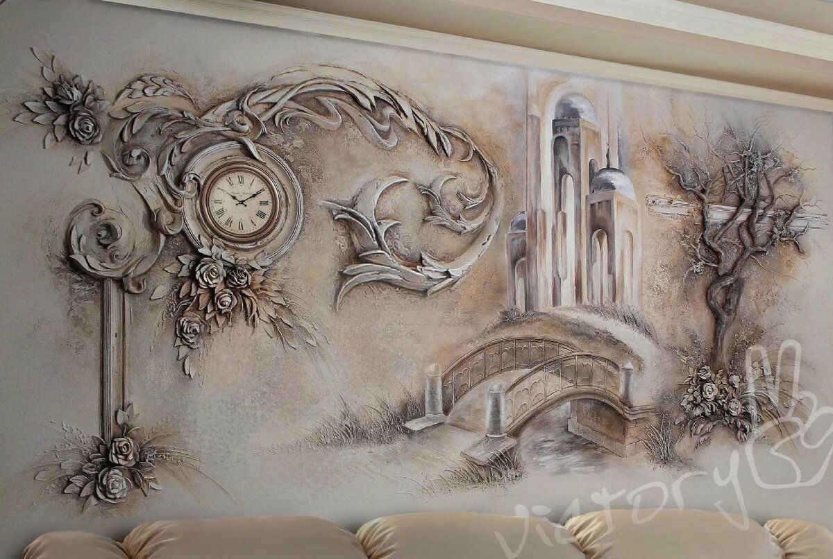 Картинки из гипса на стене