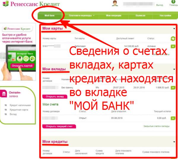 Ренессанс кредит оплата онлайн картой