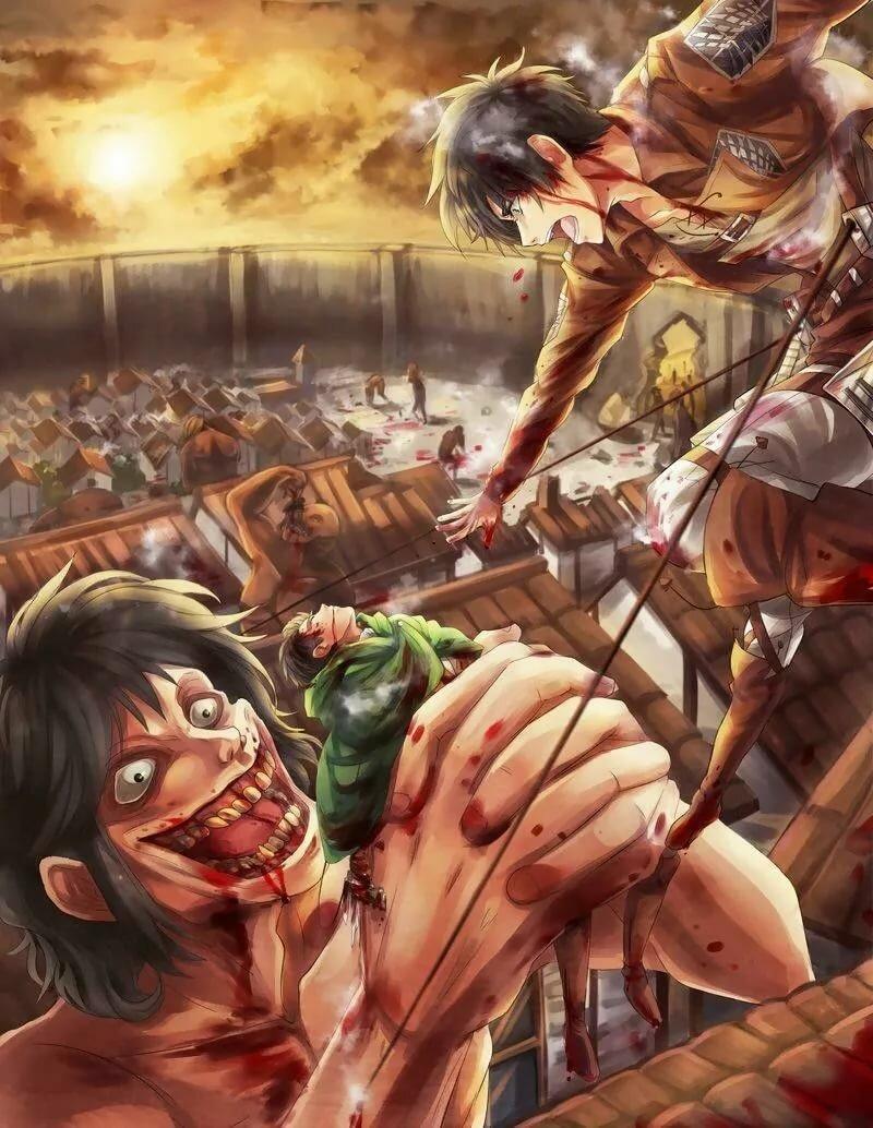 картинки атака титанов гиганты мужчиной