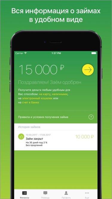 кредит онлайн на карту сбербанка без посещения
