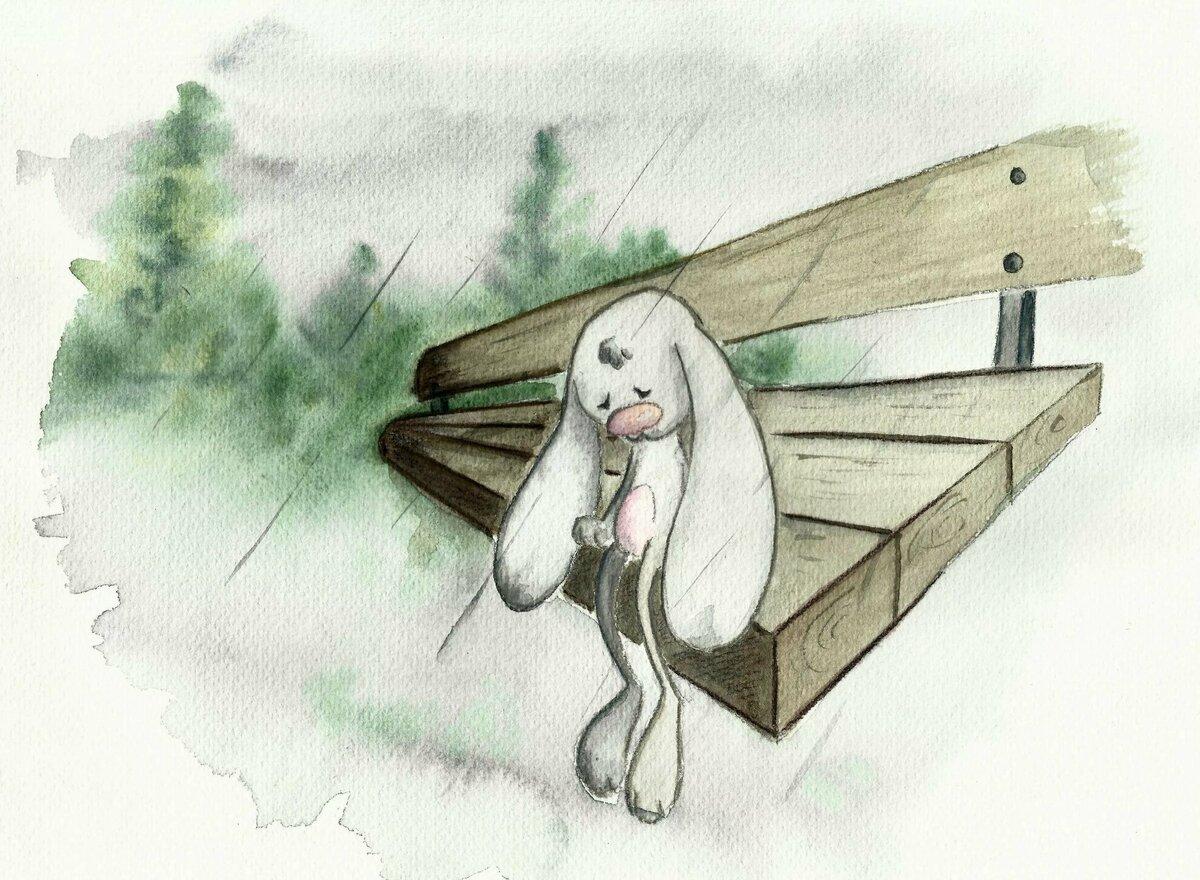 Картинки зайчика грустного
