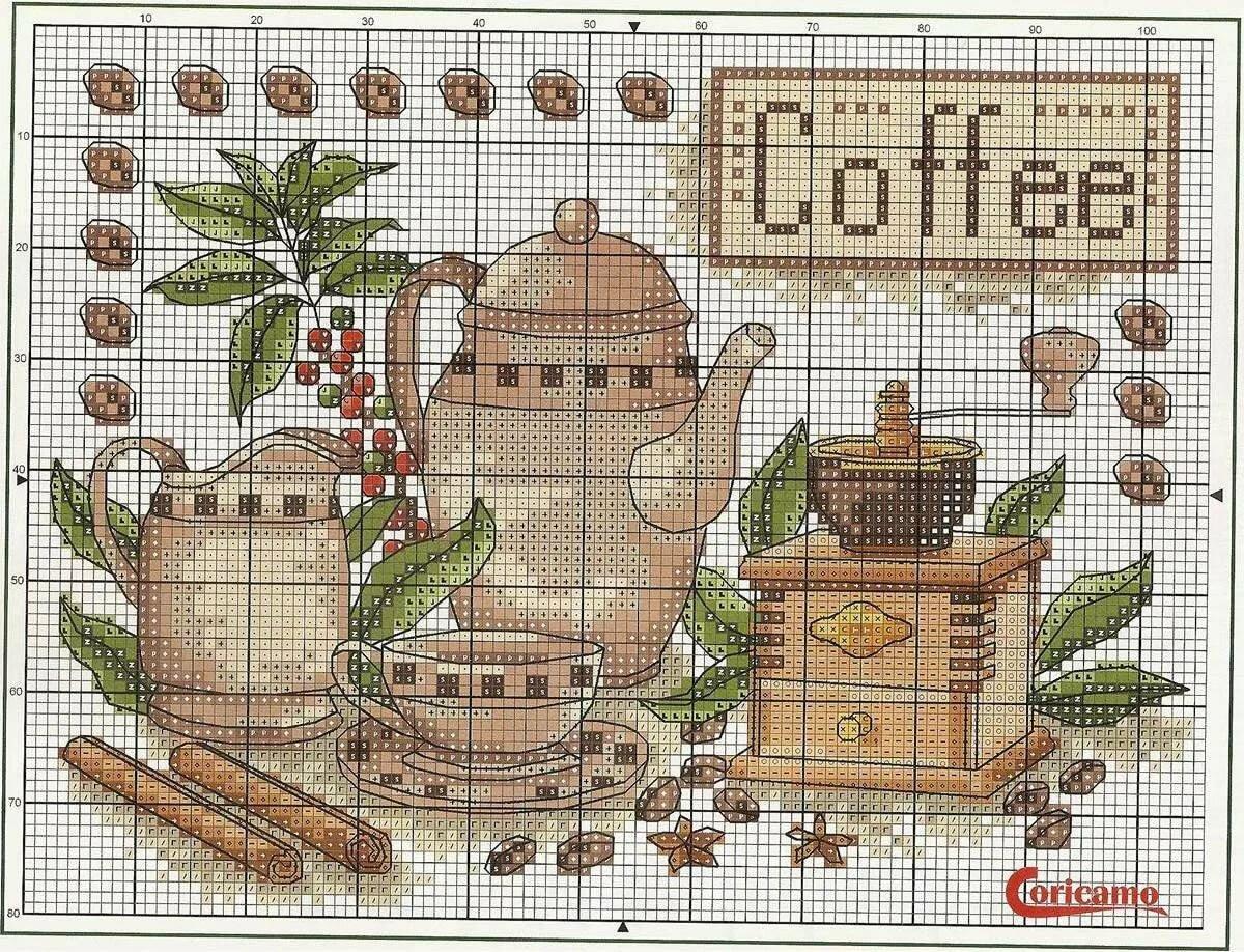 Картинки с вышивкой крестом для кухни