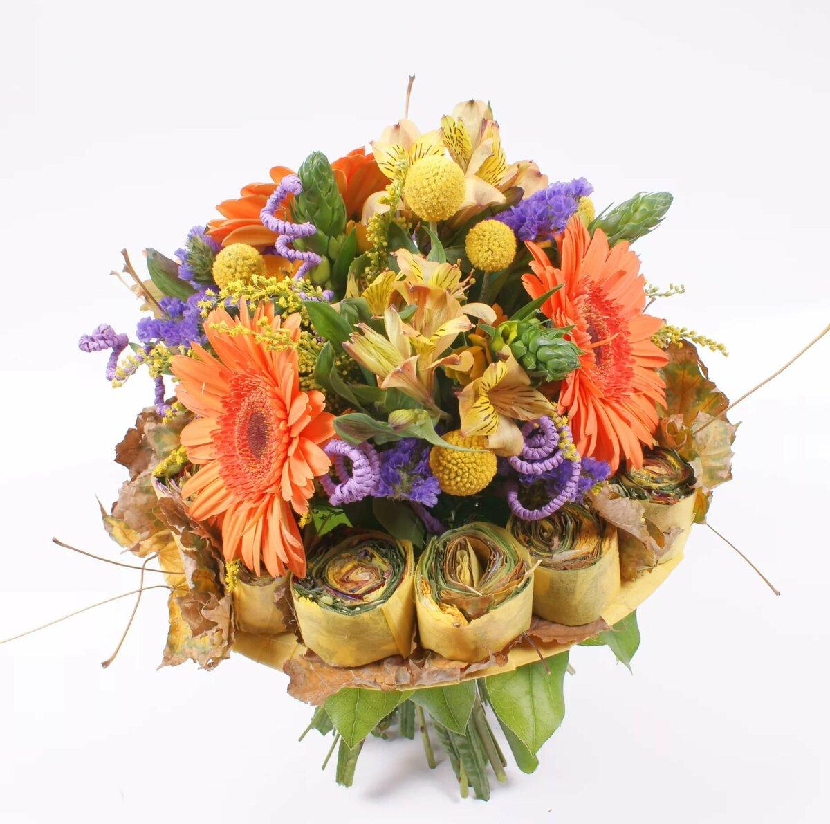 причиняет нам необычный букет цветов на юбилей фото яхнин