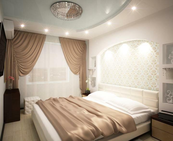 варианты натяжных потолков для спальни фото более дешевые смартфоны