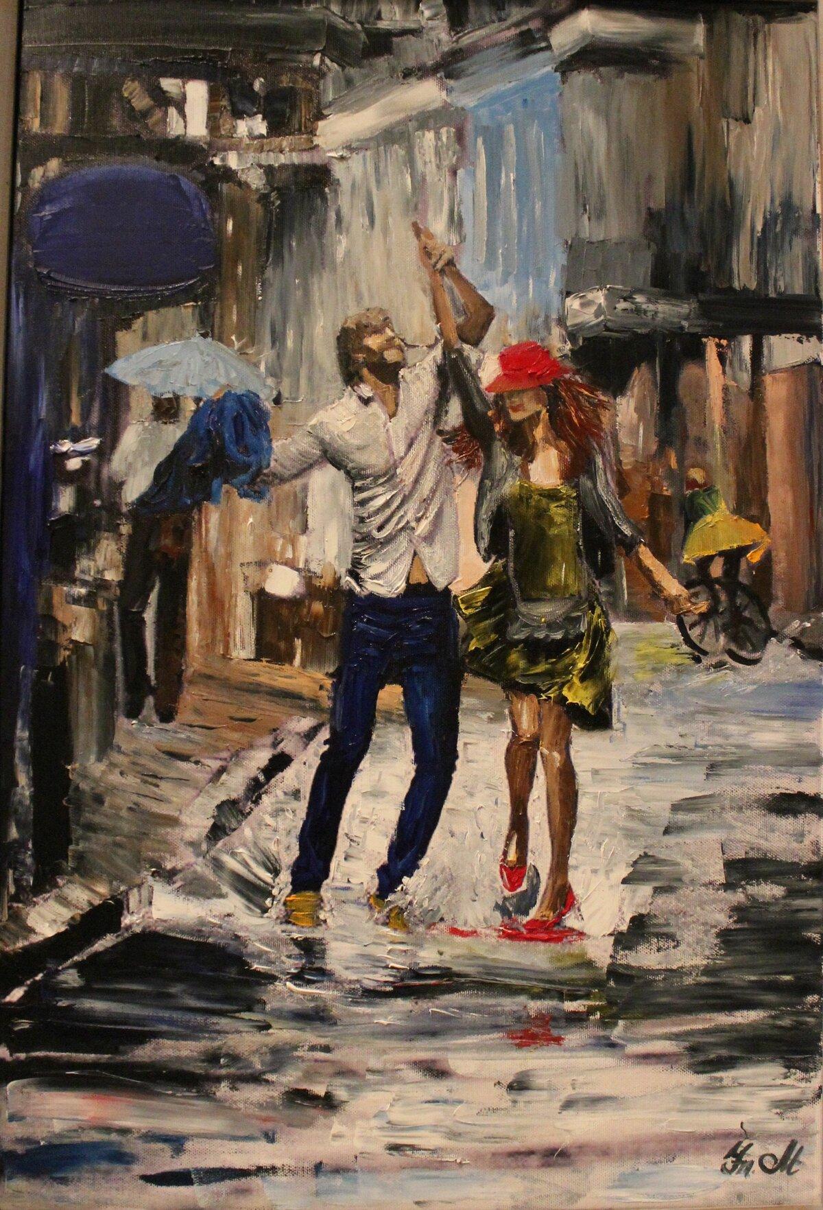 учебе постер танцующие под дождем вяжется