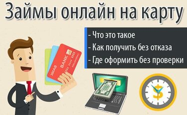 Займы на карту срочно без процентов без проверки кредитной