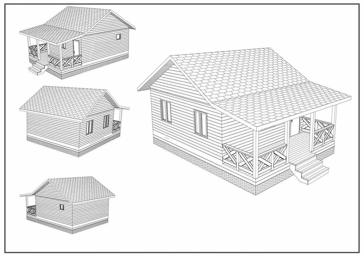 чердак одноэтажного дома из бруса фото чертежи многие ирина долгое