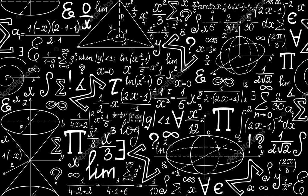 картинка черная математика для