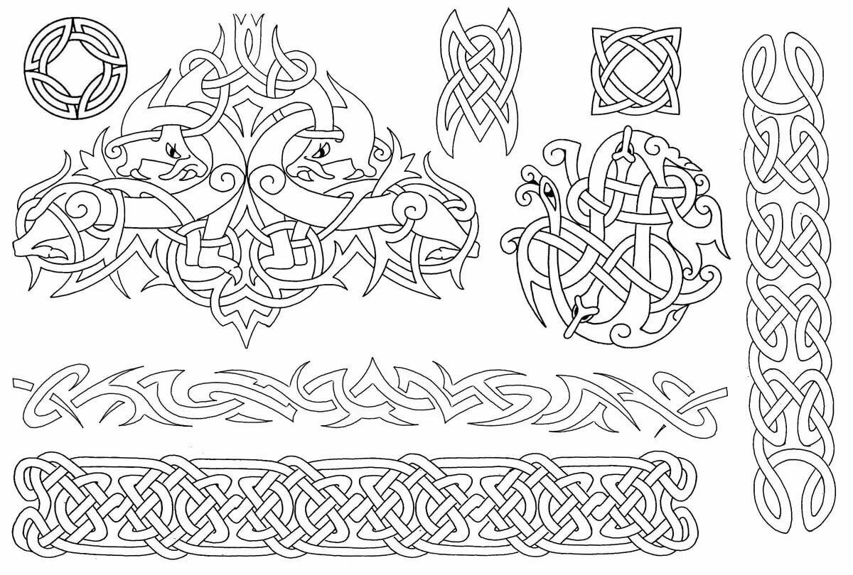 Матные, картинки скандинавские узоры