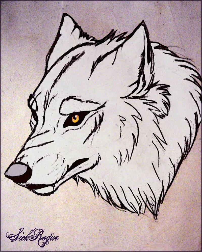 волки картинки узор как нарисовать является